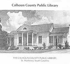 Calhoun County, South Carolina, Public Library History